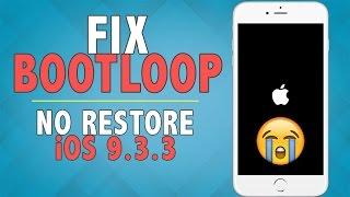 How to Fix Bootloop/Stuck on Apple Logo on iOS 9.3.3 - 10.2 (NO RESTORE) | iPhone, iPad, iPod