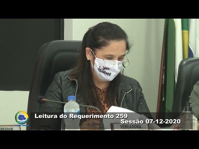 Vereadora Isabel Baran  podemos  Leitura do Requerimento 259 Sessão 07 12 2020