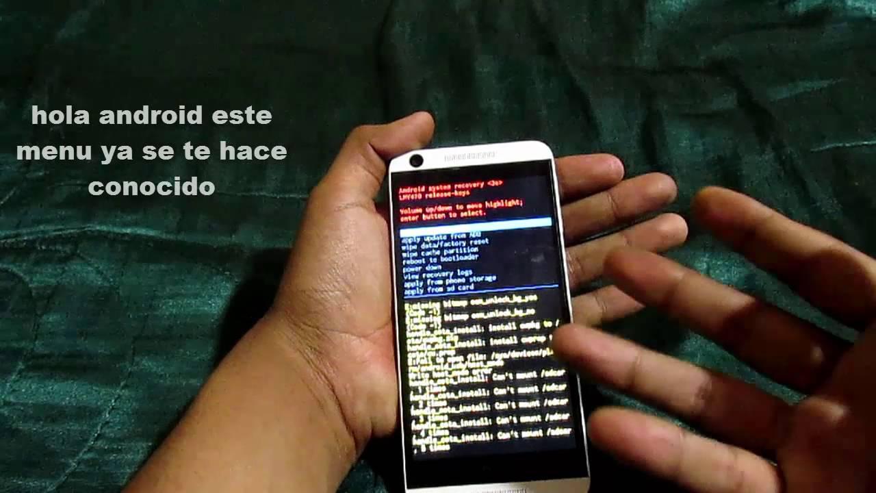 htc desire 626s hard reset en español