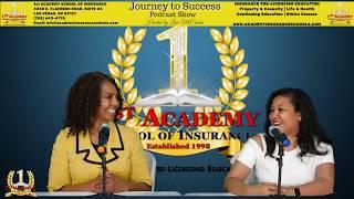 1st Academy School of Ins. Podcast w/ Ms. Lisa Mc Combs Interview Carmella Larkins