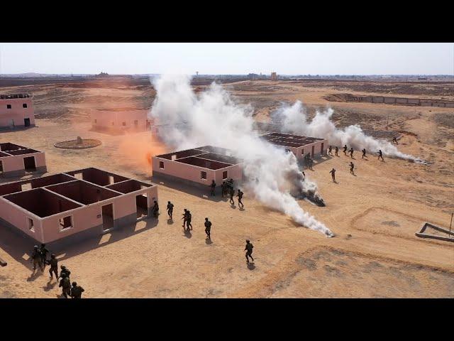 С воздуха - в бой: десантники освободили захваченную «террористами» деревню под Каиром