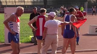 Чемпионат России по лёгкой атлетике среди ветеранов 2018. Бег на 100 метров. Мужчины