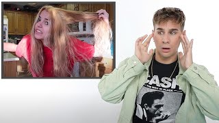Hairdresser Reacts To Box Dye Bleach Fails