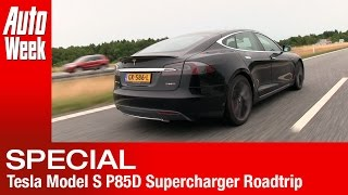 Tesla Model S P85D Supercharger roadtrip: Netherlands to Norway for AC/DC - English subtitled