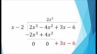 Álgebra - División de Polinomios