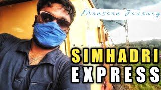 Scenic Train Journey in Rain towards vishakapatnam || Most Enjoyed Train Journey🤩 || Rail Gyan Vlogs