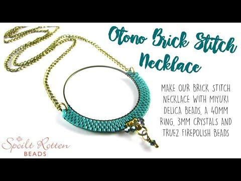 Otono Brick Stitch Necklace
