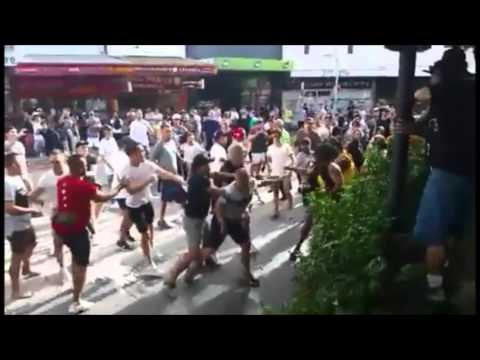 Huge Fight Breaks Out on Sydney Street During UFC Bout
