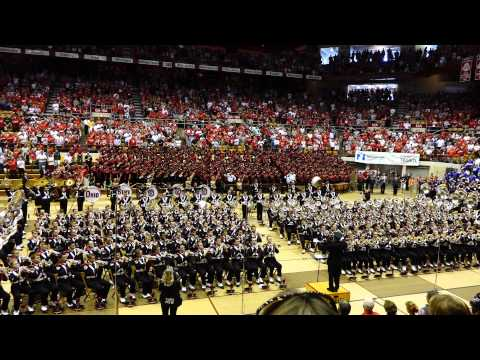Ohio State Marching Band plays the National Anthem at 9/27/2014 Skull Session OSU vs UC