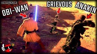 *EPIC* Anakin and Obi-Wan 'TAG-TEAM' Gameplay - Star Wars Battlefront 2 Geonosis Gameplay