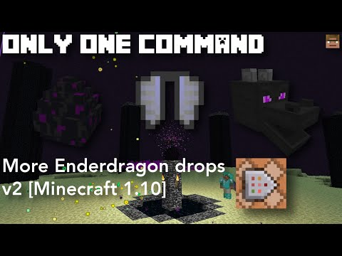 More Enderdragon Drops v2 | Only one command [Minecraft 1.10] (Server friendly)