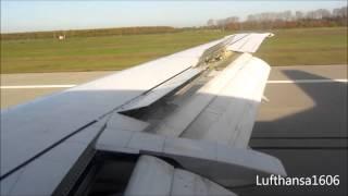 Lufthansa Boeing 737-300 flight from Frankfurt/Main(FRA) to Leipzig-Halle(LEJ) airport HD/3D
