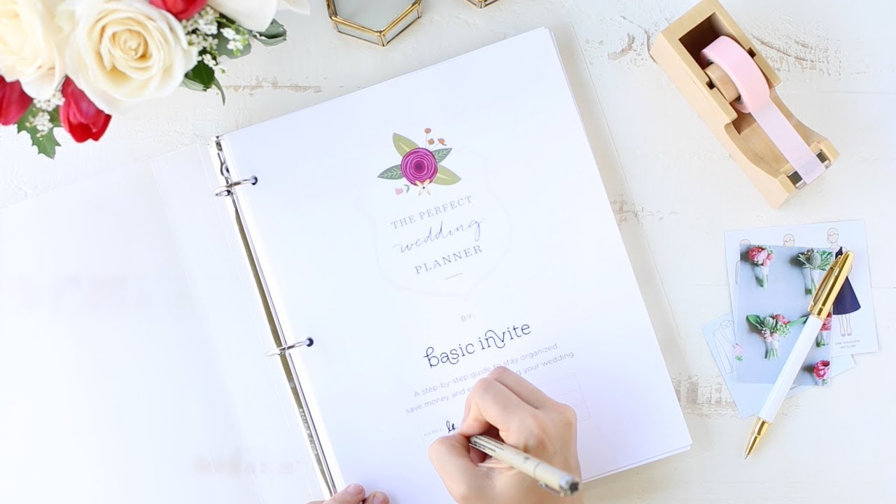 photograph regarding Free Printable Wedding Planner Workbook Pdf known as Wedding day Planner Printable through Easy Invite