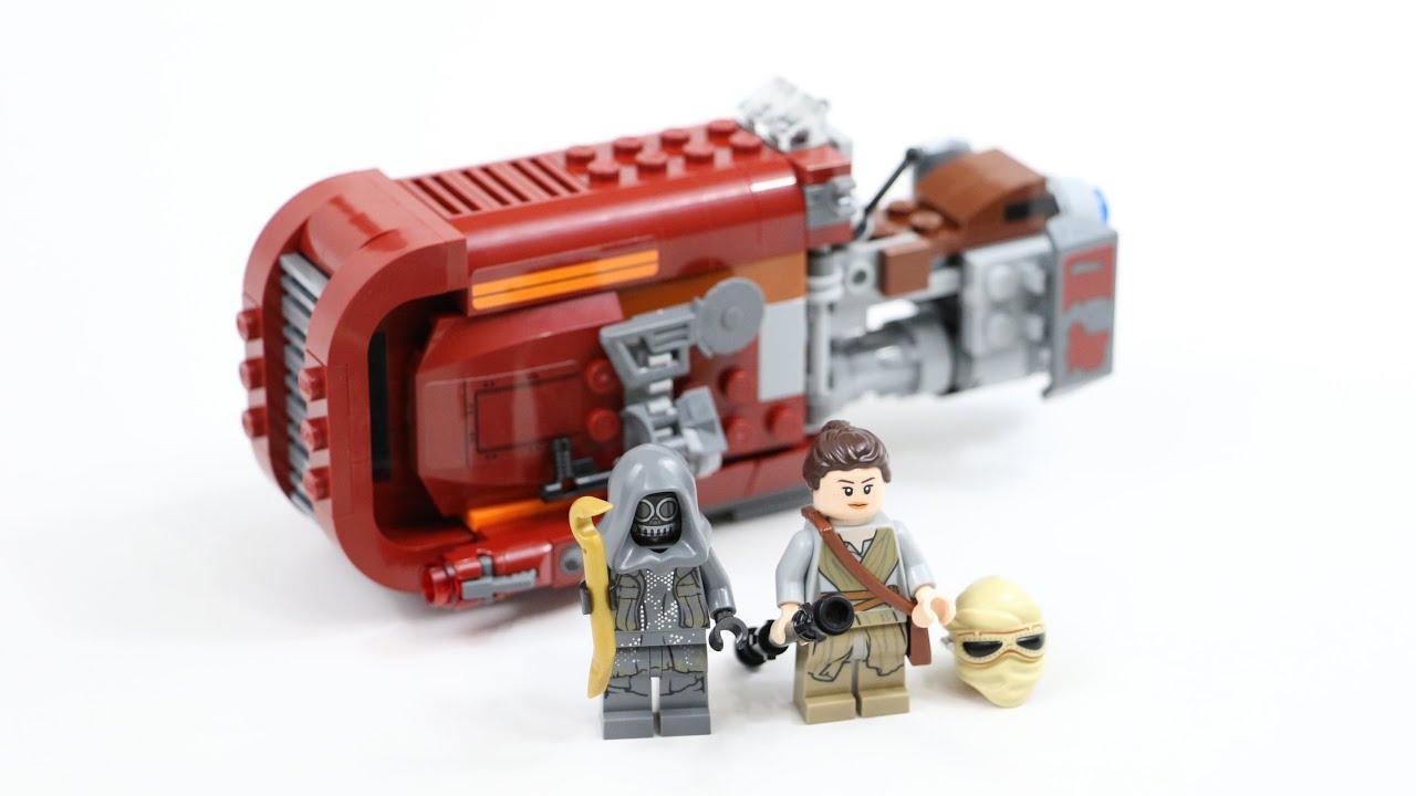 Lego Star Wars Reys Speeder Timelapse Review Set 75099 Youtube