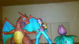 ENTRENADOR POKEMON PAPERCRAFT