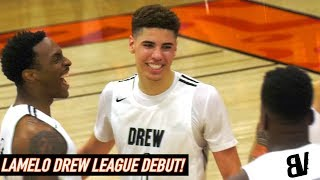 LaMelo Ball DREW LEAGUE DEBUT! REUNITED w/ Chino Hills Teammate BIG O! ENTIRE Ball Family Shows Up!