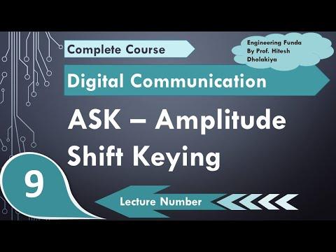 L-9 Amplitud Shift Keying ASK (Basics, Definition, Waveform, Bandwidth, Modulation and Demodulation)