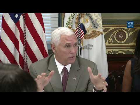 Vice President Mike Pence Hosts a Roundtable Discussion