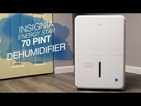 Insignia Dehumidifier - 70 Pint - Energy Star - Unboxing and Review - Basement = Super Dry!