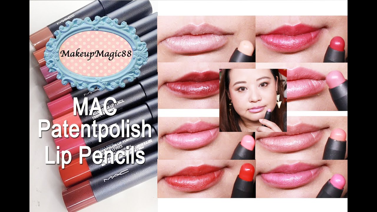 Mac Patentpolish Lip Pencils Review Demo Amp Swatches