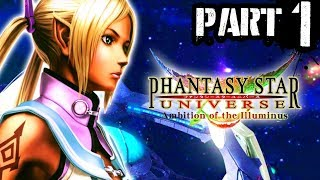 1) Phantasy Star Universe: Ambition of the Illuminus - Playthrough Gameplay