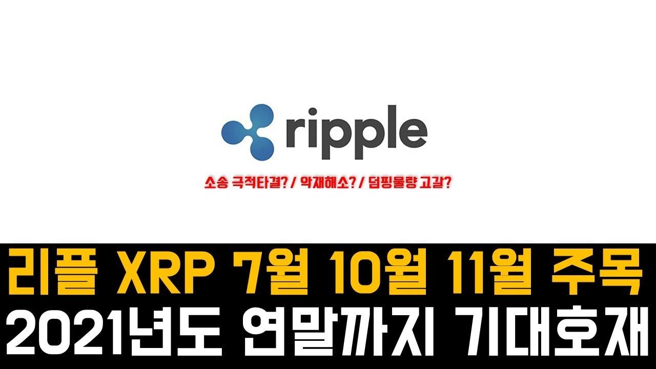 리플 XRP - 2021년도 연말까지 남은 이벤트와 기대 호재 분석