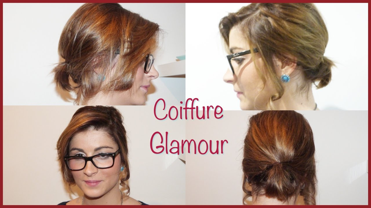 Coiffure Simple Glamour Cheveux Court Long Youtube