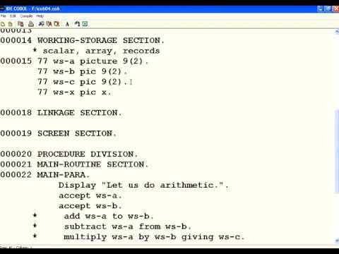 COBOL 4 Arithmetic Operations