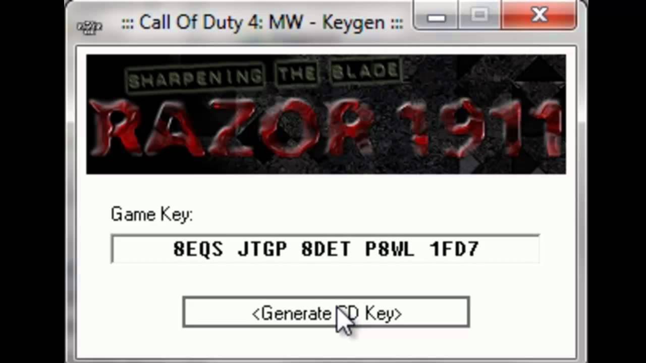 cod 4 cd key
