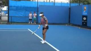 Na Li Australian Open 2011 Practice1(リーナ)
