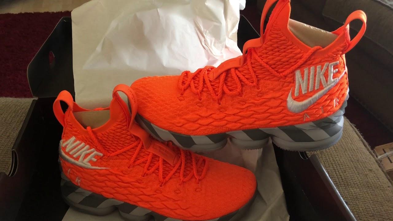 "new product fa8a8 7463d Unboxing The LeBron 15 ""Orange Box"" PE!!!"