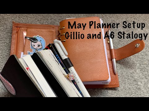May Planner Setup In my Gillio and A6 Stalogy // Pink Planner Girl