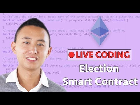 Ethereum Election Smart Contract - Live Coding