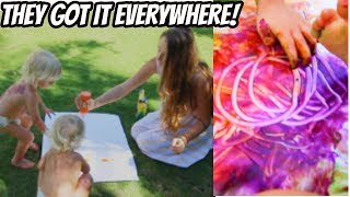 TWIN TODDLERS PAINT IN HAWAII!