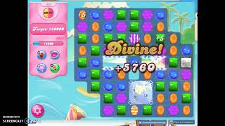 Candy Crush Level 1632 Audio Talkthrough, 3 Stars 0 Boosters