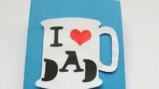 DIY Father's day ideas/Making Cup card for kids/Father's day cute tea-cup card idea
