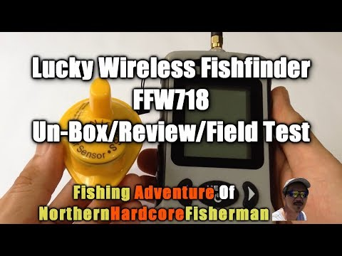 Lucky Wireless Fishfinder FFW718 Unpacking, Review and Field Test | FishingAdvNHF