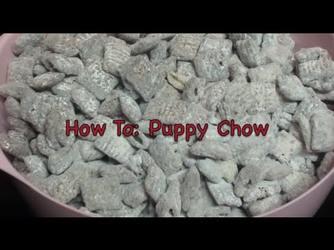 How to make puppy chow without butter