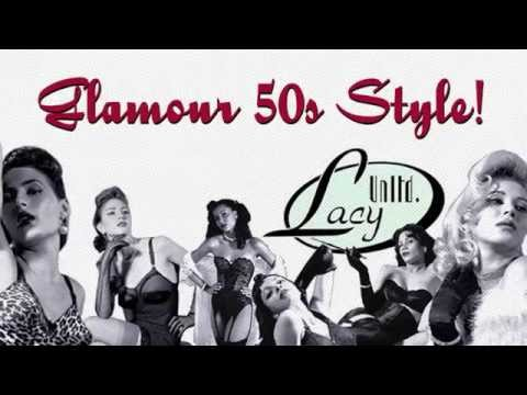 Lacy Unlimited  Pinups Retro Glamour Pinup Vintage Lingerie Models Rockabilly