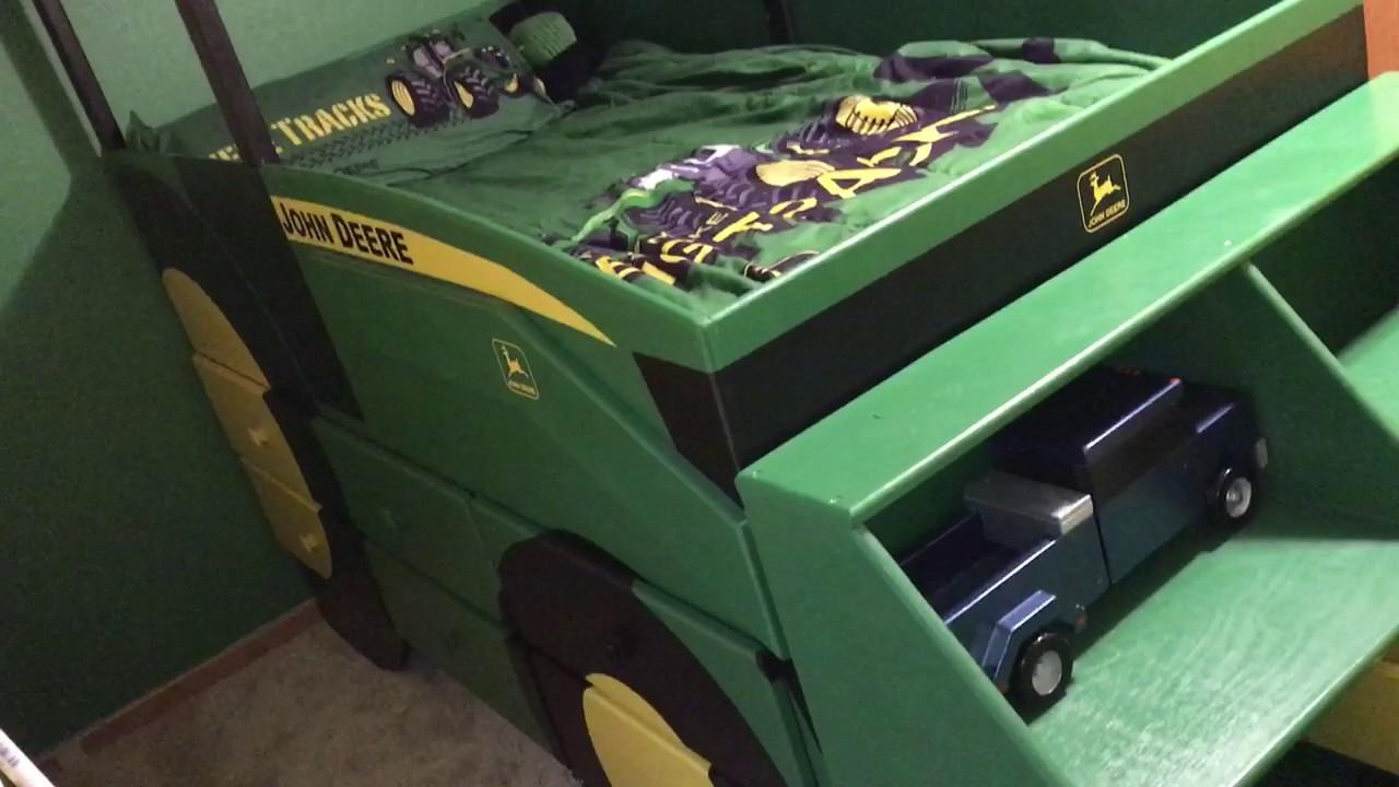 kids john deere loader tractor bed youtube. Black Bedroom Furniture Sets. Home Design Ideas