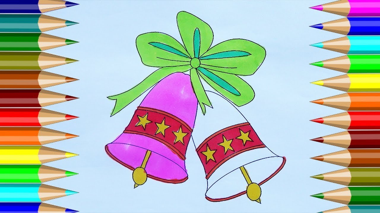 Christmas Bells Coloring Pages | How to draw Christmas Bells ...