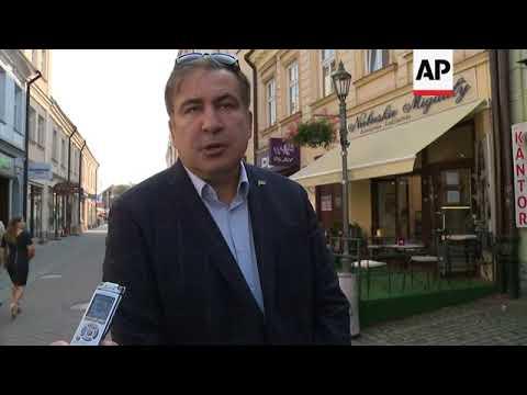 Ex Georgian president tries to return to Ukraine