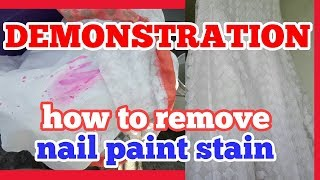 nail paint stain removing at home / how to fancy clothes  dry clean at home.