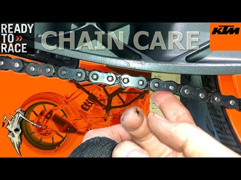 KTM 390 125 250 Duke Chain Maintenance - Clean, Adjust, Wear