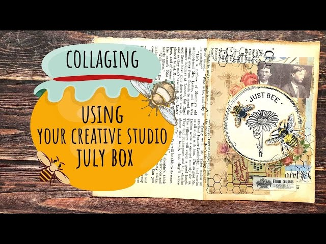 Collaging Using Your Creative Studio Box July 2020/Use Your Stamps!