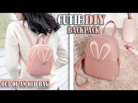 DIY FANTASTIC BACKPACK IDEA PURSE BAG TUTORIAL // Mini Backpack Old Bag Transform