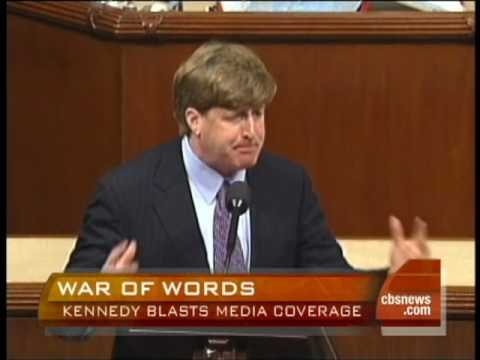 Patrick Kennedy Blasts Press, Policy