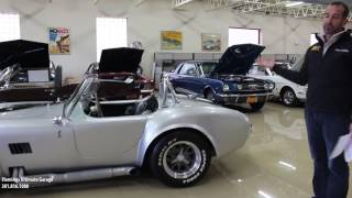 66 Shelby Cobra for sale with test drive, driving sounds, and walk through video