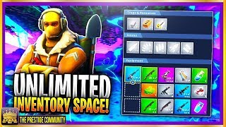 NEW Carry UNLIMITED WEAPONS & ITEMS GLITCH In Fortnite! INVENTORY Space Glitch Patch 3.3. March 2018