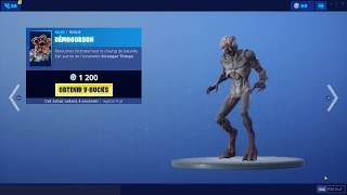 BOUTIQUE 5 JUILLET 2019 FORTNITE - NEW SKIN DEMOGORGON / SKIN STRANGER THINGS / ITEM SHOP 05/07/19